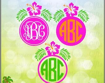 Hibiscus SVG ~ Hibiscus Monogram Svg ~ Hibiscus Decal ~ Hibiscus ~ Monogram SVG ~ Commercial Use SVG ~ Clip Art~ Cut File dxf eps png