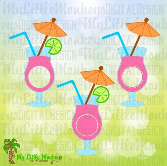 Tropical Drink Monogram Tropical Svg Tropical Shirt Etsy