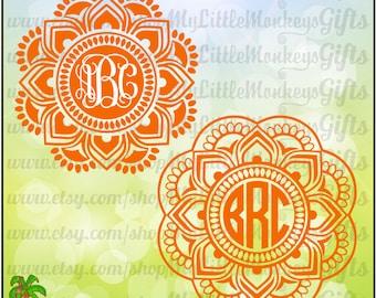 Mandala ~ Mandala SVG ~ Mandala Monogram SVG ~ 2 Color ~ 3 Color ~ Monogram Svg ~ Commercial Use SVG ~ Cut File ~ Clipart ~ svg-dxf-eps-png