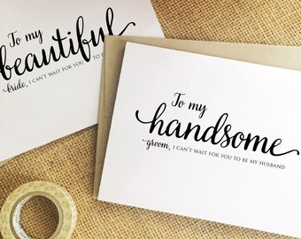 to my husband on our wedding day card for husband on our wedding day card groom gift from bride husband wedding day gift groom gift WGJ12