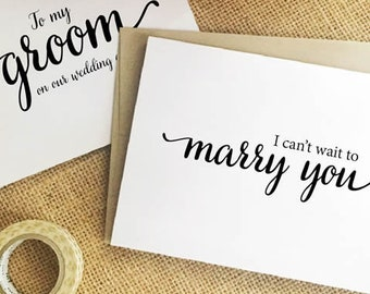 Wedding Card for groom gift from bride gift to groom gift on our wedding day card I can't wait to marry you card husband wedding card MIL8