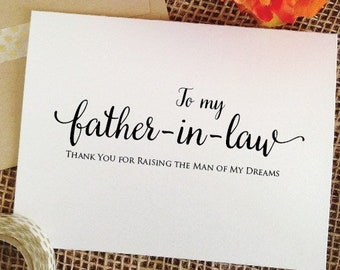 Father of the groom gift from bride, to father in law wedding gift father in law gift parents in law, father of the groom card from bride
