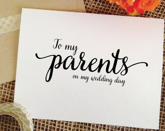 Wedding Gift Parents Etsy