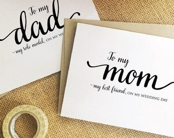 Mother of the Bride Gift, Parents of the Groom Gift from Bride to mom on wedding day card daughter Wedding Gift for mom, father, dad,husband