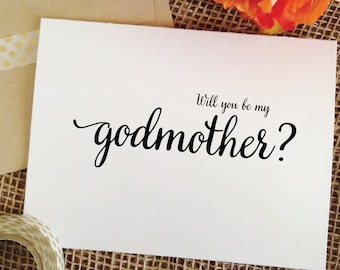 Will you be my Godmother - Will you be my Godfather - Will you be my Godparents ask someone to be godmother gift card godfather gift