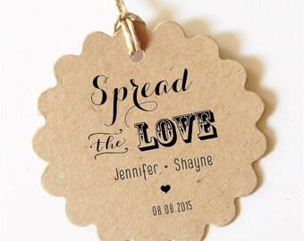 Wedding gift tags Spread the LOVE Tag wedding Favor Tag Wedding Spread the Love Jam Labels Canning Labels Wedding Tags