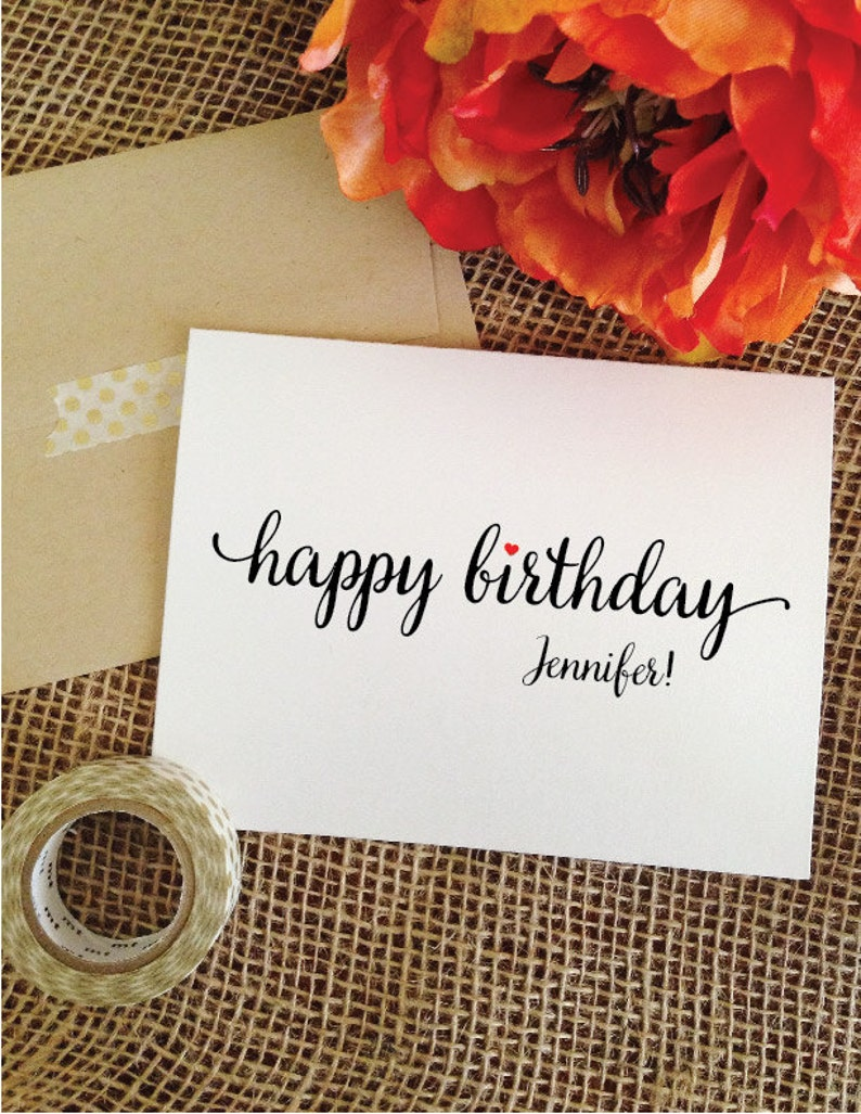 Happy Birthday Card Personalized Cards Greeting Gifts For Her Gift Him Boyfriend