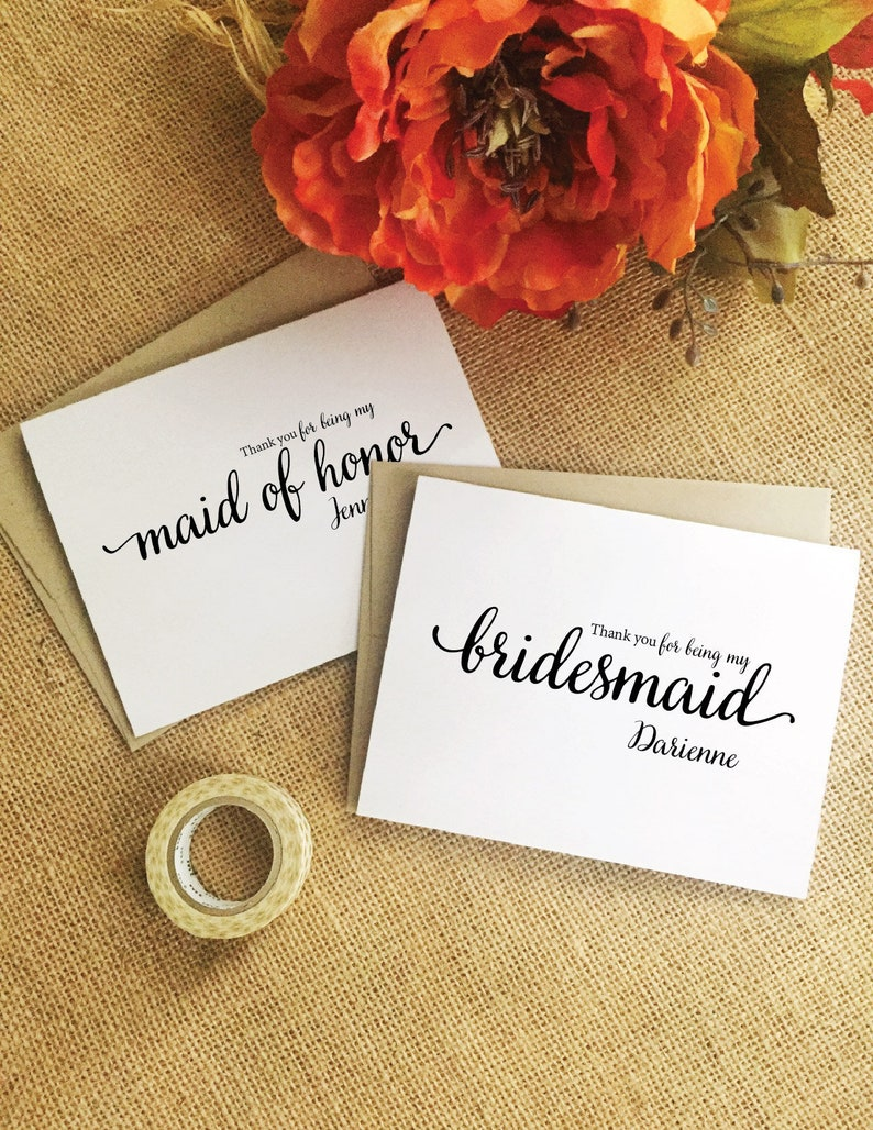 Bridesmaid thank you gift personalized bridesmaid thank you image 0