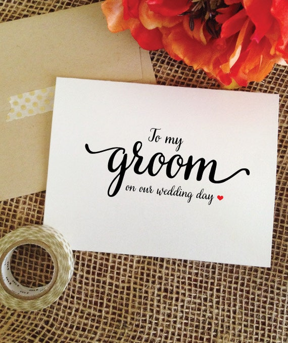 Wedding Card for Groom Gift from bride to Groom card to my groom on my Wedding Day Cards to my groom card bride to groom gift (LovelyCard)
