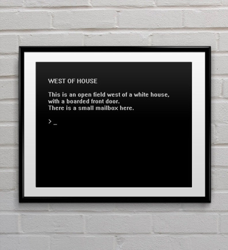 Geek Art Zork game intro Poster Wall Decor Quote Print Home Art