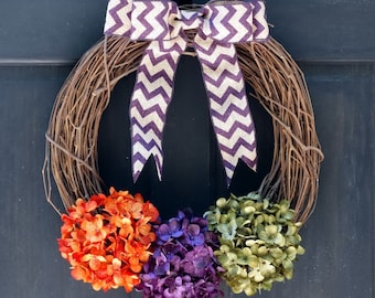 Rustic Halloween Wreath, Grapevine Wreath, Front Door Wreath, Halloween Porch Decor, Halloween Door Decor, Front Door Decor for Halloween