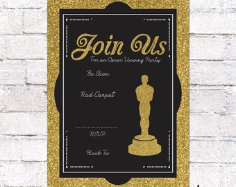 hollywood ticket invitation hollywood or film party invite etsy