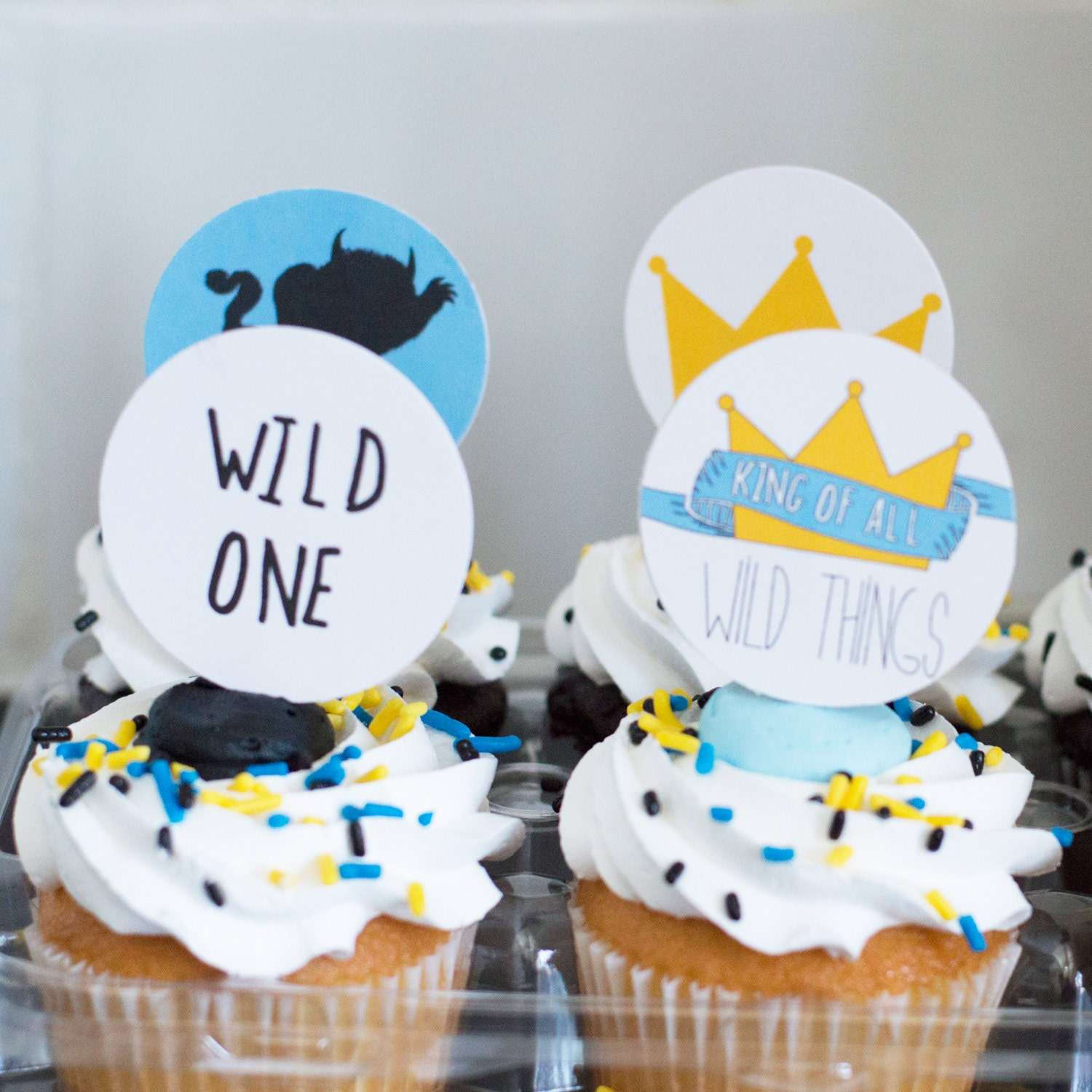 Cupcake Topper Where The Wild Things Are Theme
