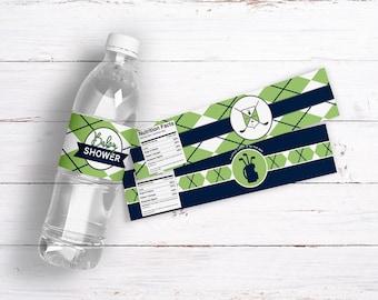 Golf Baby Shower Water Bottle Labels. *Instant Download*