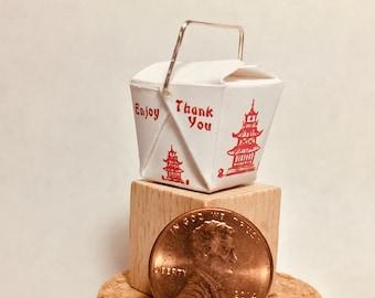 Chinese Food Takeout Box with Chopsticks Baby Bib