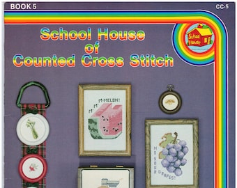 Cross Stitch Patterns – School House Of Counted Cross Stitch Book 5 – Vintage Cross Stitch Pattern Book – CC-5