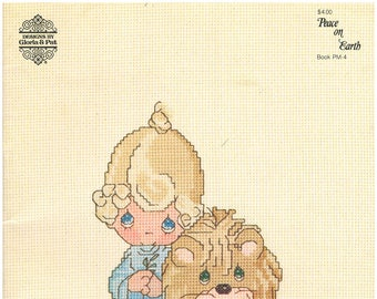 18 Precious Moments Cross Stitch Patterns – Precious Moments Peace on Earth – Designs by Gloria and Pat PM-4 – 18 Designs