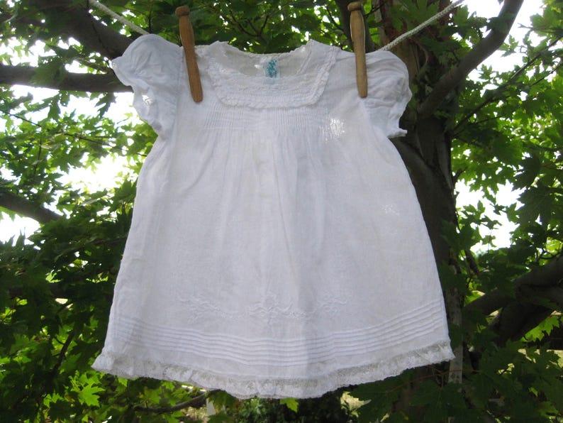 15d10d3ba Vintage White Tiny Tots Handmade Original Baby Dress or Doll