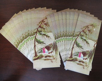 Set of 18 Vintage Christmas Greeting Cards – Unused No Envelopes