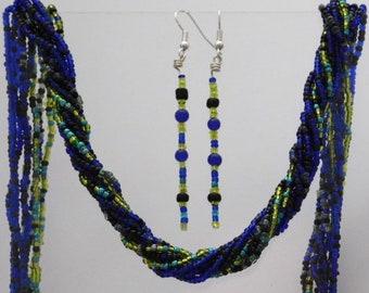 SET Bead Earrings Necklace