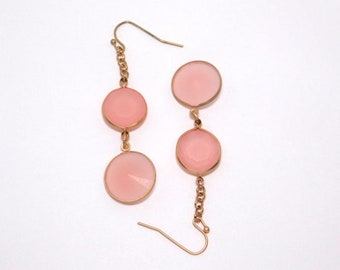 Frosted Pink Earrings