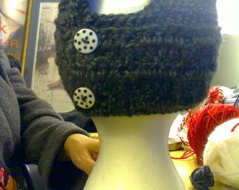 Crochet ponytail hair hat