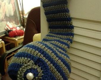 Crochet Elf hat blue