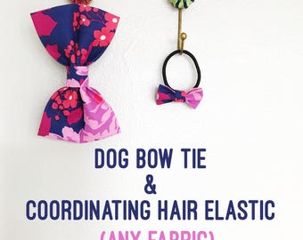Dog Bow Tie, Dog Mom Gift, Puppy and Me Set, Hair Bow, Collar Bow Tie, Cat Bow Tie