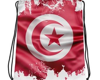 Drawstring bag Mondial 2018 Flag of Tunisia