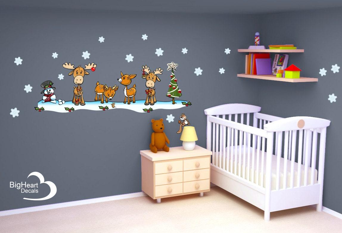 Woodland Christmas Wall Decal Set