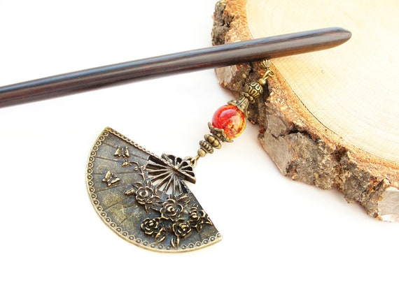 Metal butterfly hair fork suede tassel blue roses flower japanese kanzashi chopstick hair piece orient pin hair stick decoration ornament