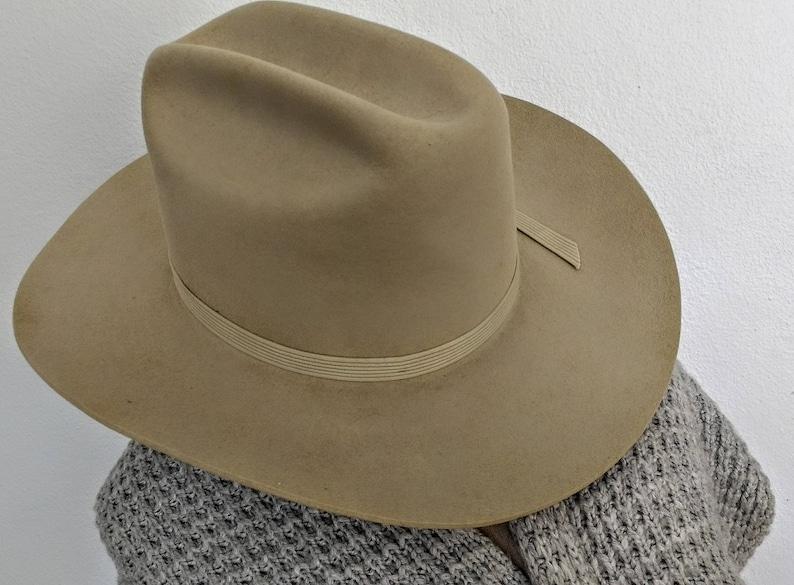Vintage Cowboy Hat. Stetson Felt Silver Belly. Size 7 1 4  e3533299290
