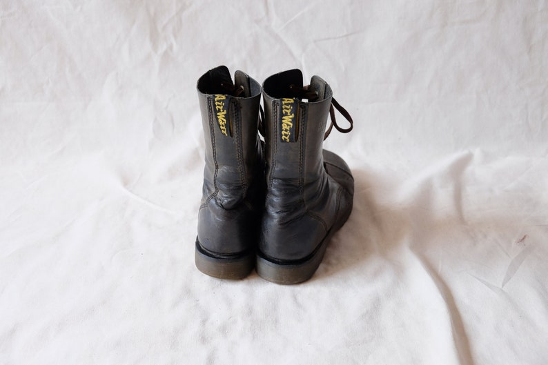 c821b201294 Vintage Doc Martens boots Dr Martens Original ankle boots 10 holes black  leather Air Wair grunge groovy boots Men 43 UK 9 US 10