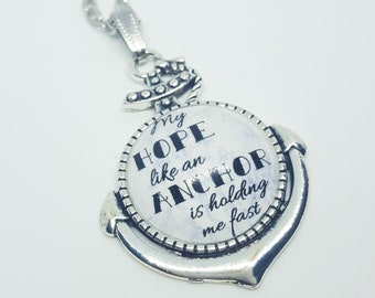 My Hope Like An Anchor Necklace, Holding Me Fast, Kingdom Songs, Sing Out Joyfully, Happy Hope, Nautical, Inspirational JW Jewelry