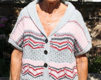 women's hand knitted wool vest