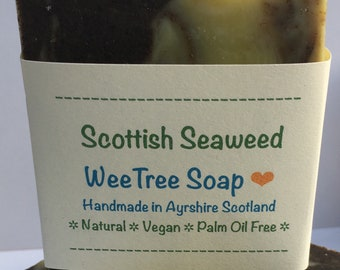 Scottish Seaweed, Lavender and Peppermint, Natural Handmade Vegan Soap