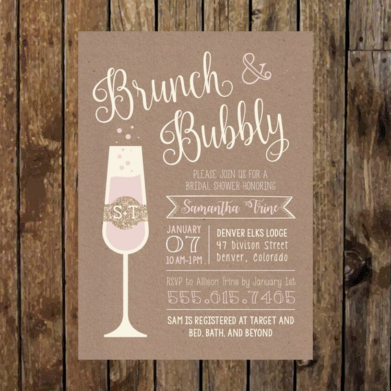 5 x 7 printable rustic brunch bubbly bridal shower etsy image 0 filmwisefo