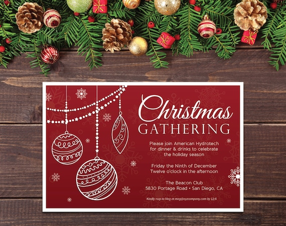 Office Christmas Party Invitation.4 25 X 5 5 Printable Office Christmas Party Invitation Holiday Office Party Invitation Corporate Christmas Party Christmas Gathering