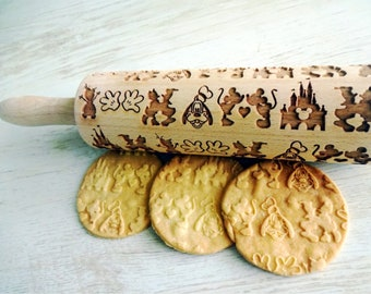 Roller with Your Patter Engraved Rolling-pin Ibizan Hound Small Rolling Pin for Cookies with Dog/'s Head Embossing Rolling Pin