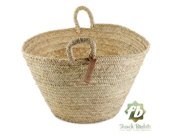 Farmer's Market palm Baskets Big size, French Basket, farm Basket, straw bag, french market basket, Beach Bag, straw bag ,natural baskets