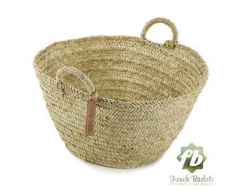Farmer's Market palm Baskets Medium size, French Basket, farm Basket, straw bag, french market basket, Beach Bag, straw bag ,natural baskets