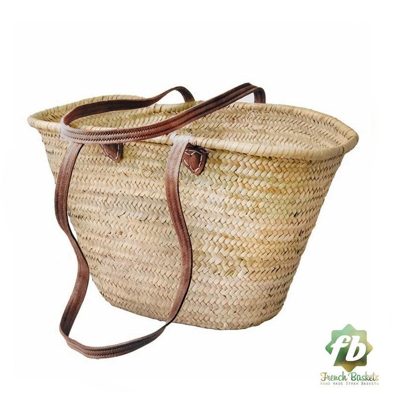 straw bag Handmade French Basket Moroccan Basket french market image 0
