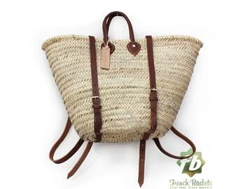 Straw baskets Backpack summer 2018 V2 French Basket Moroccan Basket straw bag, french market basket Beach Bag, straw bag