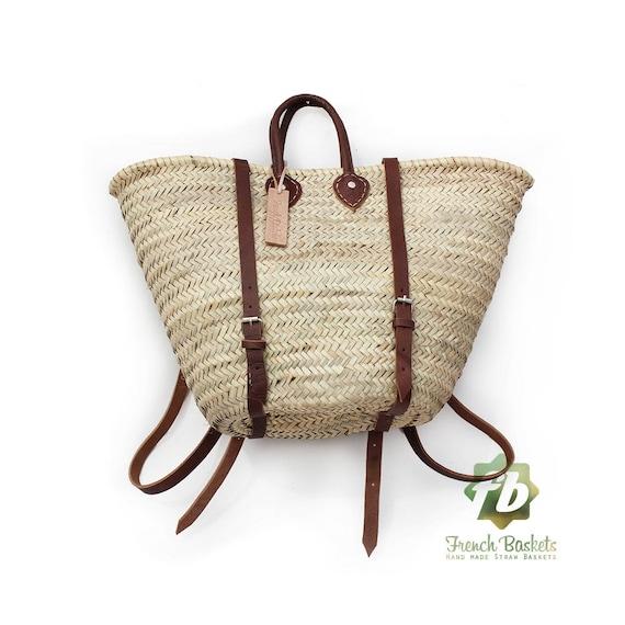 boho backpack Hipster backpack Straw baskets Backpack French Basket Moroccan Basket straw bag french market basket Beach Bag straw bag