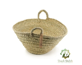 Farmer's Market palm Baskets Small size, French Basket, farm Basket, straw bag, french market basket, Beach Bag, straw bag ,natural baskets