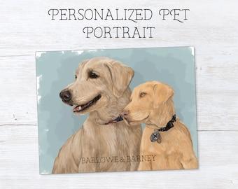Custom Pet Portrait - Dog Portrait - Cat Portrait - Pet Portrait from Photo - Pet Memorial Gift - Gift for Pet Lover - Custom Pet Painting