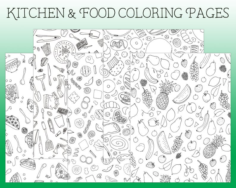 Coloring Pages Kitchen Coloring Page I Spy Coloring Page
