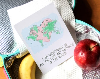 Affirmation Cards For Kids - Lunchbox Notes - Lunchbox Love - Love Notes - Supportive Cards - Cards For Kids - Back to School