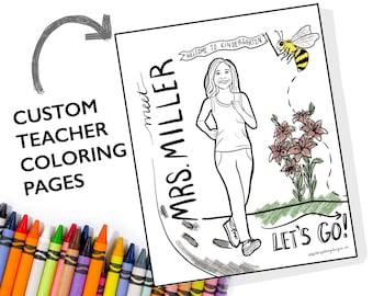 Meet the Teacher Coloring Pages - Teacher Appreciation Gift - Gift for Teacher - Gift for Para - School Coloring Page - Custom Coloring Page