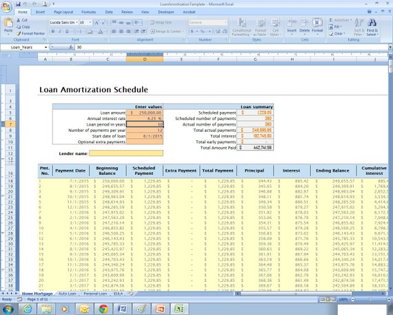 Zeitplan Excel-Kalkulationstabelle Vorlage für | Etsy